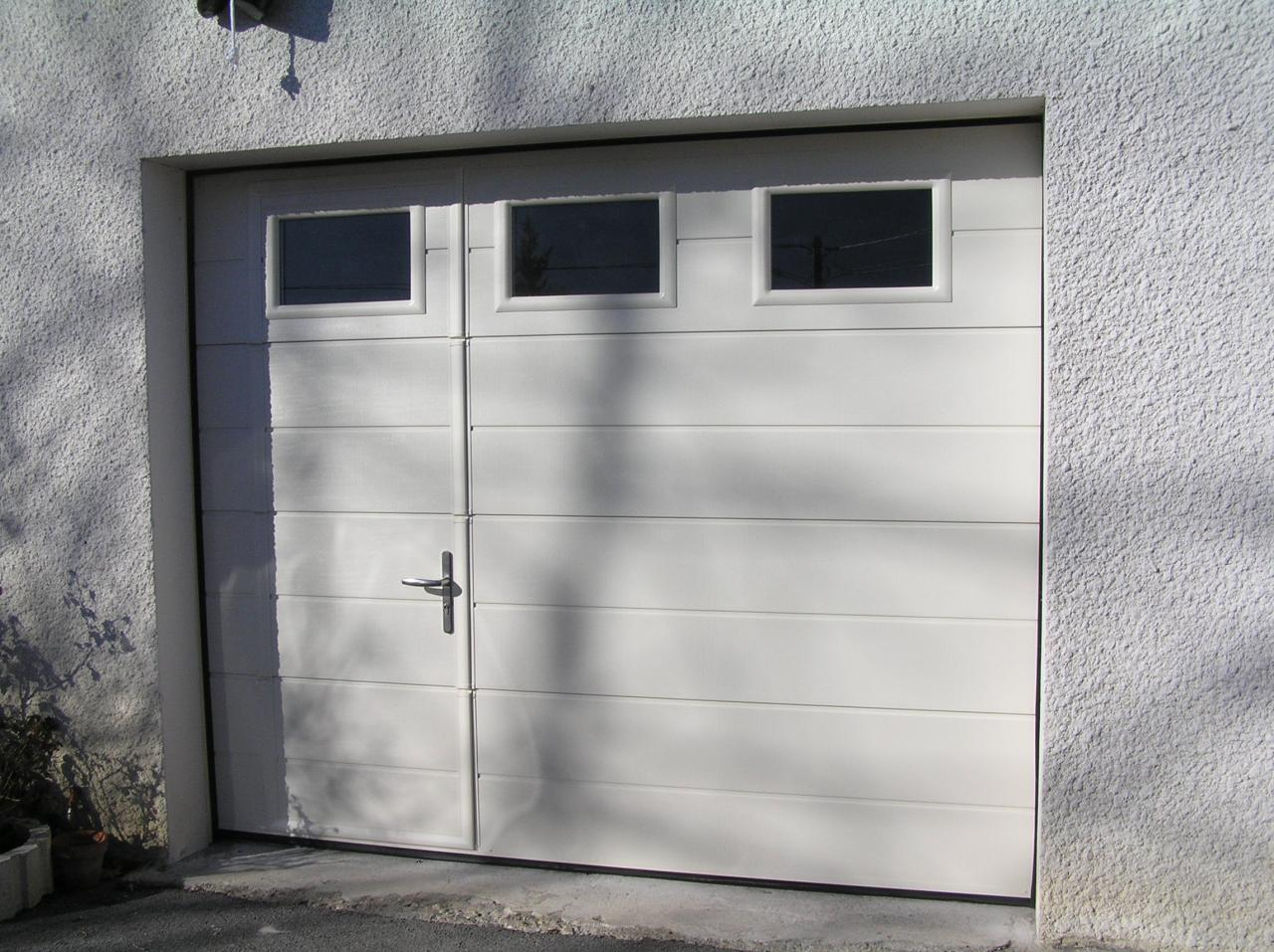 porte garage sectionnelle avec portillon leroy merlin